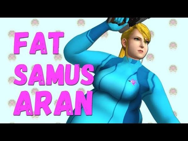 Samus Aran (Metroid) as Fat Parody