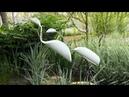 Птицы из пластиковых труб ПВХ своими руками Поделки для дачи и сада