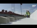 На Крымском мосту начались работы по укладке рельсов