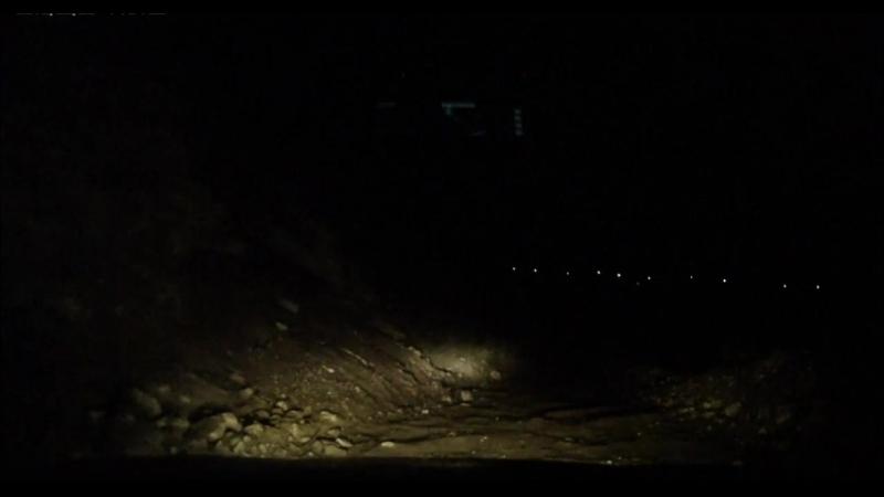 ночной спуск с перевала Кату-Ярык последние метры