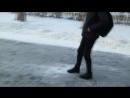 Новый фонтан в Балакове - не цветной и музыкальный, а пока лишь - ледяной