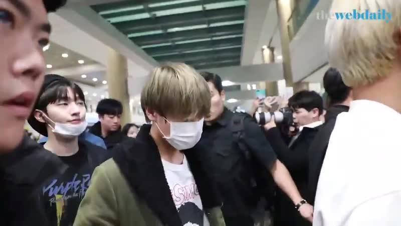 [PRESS] 181118   Wanna One по возвращению из Бангкока в Сеул