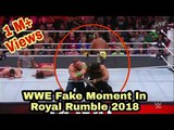 Wrestling Fake Moment In WWE Royal Rumble 2018.John Cena ,Roman Reigns, Rey Mysterio