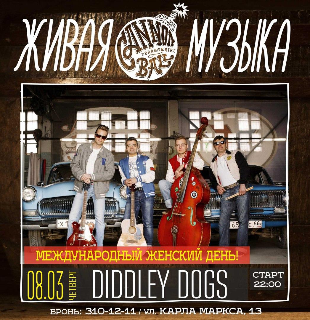 08.03 Diddley Dogs в баре Cannonball Brasserie!