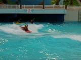 Kayaking at the WEM Wave Pool