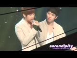 Woohyunie couldnt get any cuter. I miss Woogyu playing rock paper scissors during perf.mp4