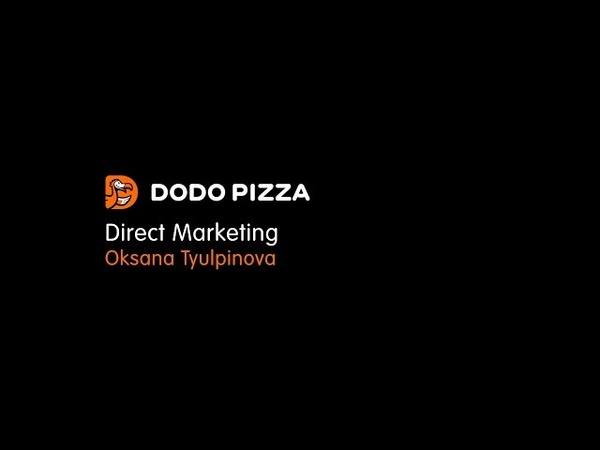 Direct Marketing. Oksana Tyulpinova. October 15, 2018