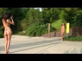 EuroNudes.com Dominika C and her photographer nude in a public park