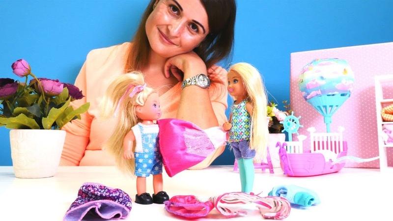Barbie bebek bakma oyunu. Chelsea ve Steffie elbise paylaşamıyorlar