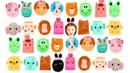 Настя открывает детские Кошельки в виде животных Видео для Девочек Purses Distribox Charm