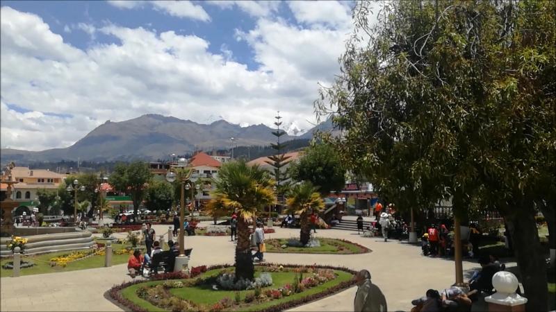 Город Хуарас в Перуанском нагорье
