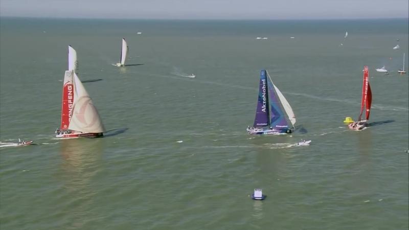 Here's the Volvo Ocean Race In-Port Race Itajaí ...in 137 seconds 👊💥