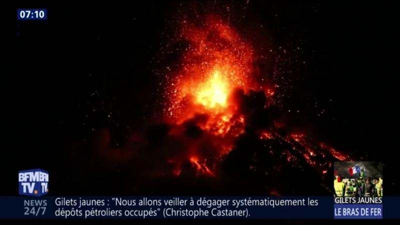 Guatemala: l'alerte rouge déclenchée après une nouvelle éruption du volcan Fuego