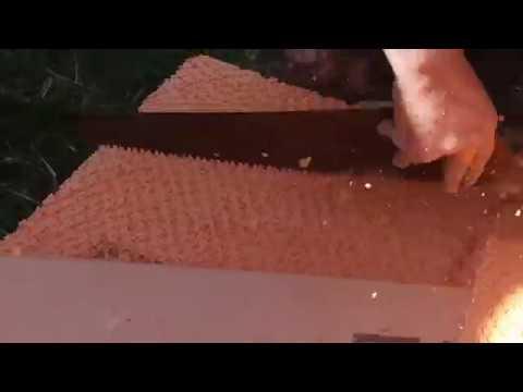 Как нужно готовить лист Пеноплэкса, лист ЭППС к приклейке на цоколь дома