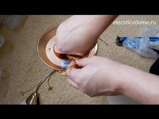 Как собрать люстру часть 2. Соединение проводов в люстре - подключение провода з