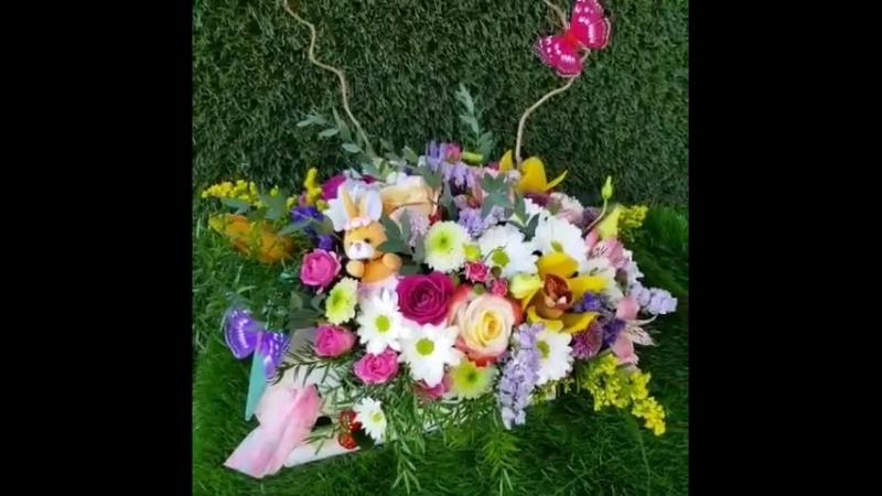 Подарок для лапочки дочки от любимого папы🐰😘🌷 . 🌍 art-buket.kz 📱 7-702-33-22-000 /whatsapp 🏠 Бульвар Мира 8  цветыкараганда д