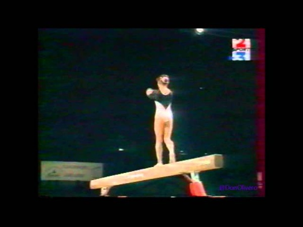 Evgueniya KUZNETSOVA (RUS) beam - 1997 Massilia Gym Cup EF