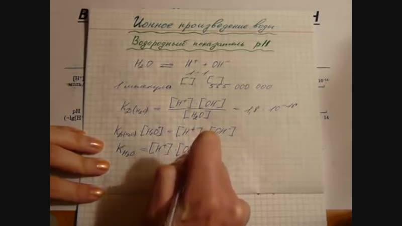 Водородный показатель - pH. Ионное произведение воды. химия@contrastvlg