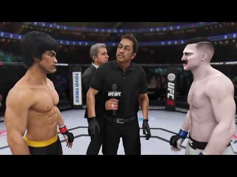 Брюс Ли vs Адольф Гитлер (EA Sports UFC 3) - CPU vs. CPU