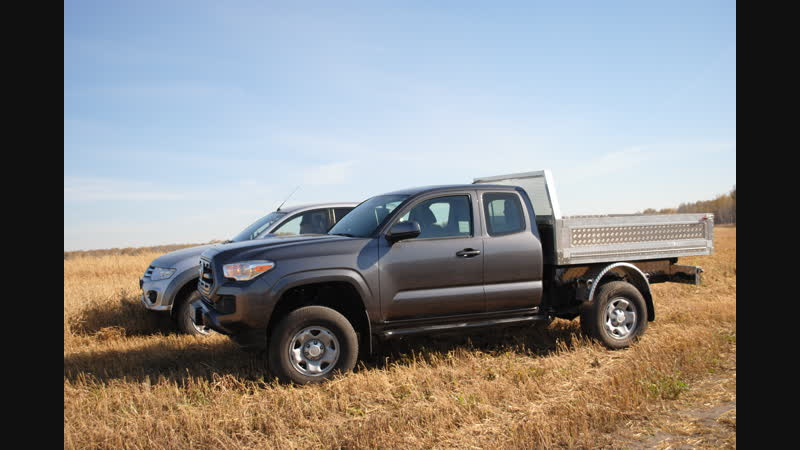 Pickup Truck With Hydraulic dump. Remade in Russia