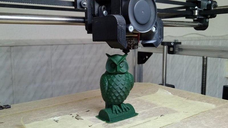 Печать совы ABS пластиком от Monofilament