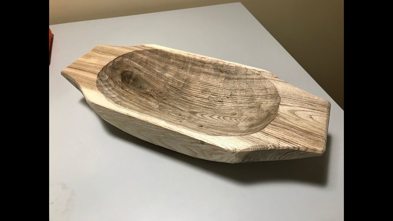 How to carve a WOODEN BOWL