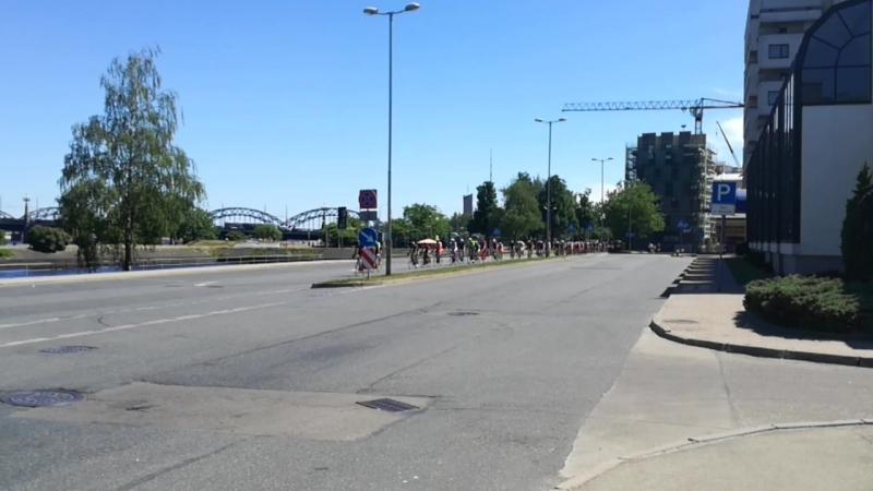 марафон в Риге..долбаные велосипидисты