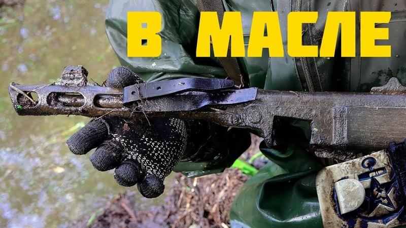 Краснофлотец и куча оружия в болоте! Поисковый магнит, металлоискатель не нужен