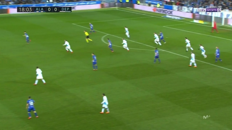 Чемпионат Испании 2017-18 24-й тур Алавес – Депортиво 1 тайм [720, HD]
