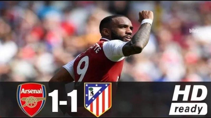 Арсенал 1-1 Атлетико Мадрид Подробный Обзор матча в HD качестве (26.04.18)HD