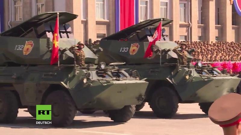 Nordkorea hält zum 70. Gründungstag große Militärparade ab