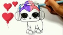 COLORING LOL DOLL PETS\ how to draw lol pets\video for kids\ العاب اطفال \ おもちゃ