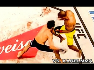 Edson Barboza vs Beneil Dariush Нокаут коленом в голову в прыжке