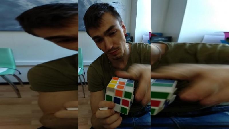Собираю Кубик Рубика в 2 действия