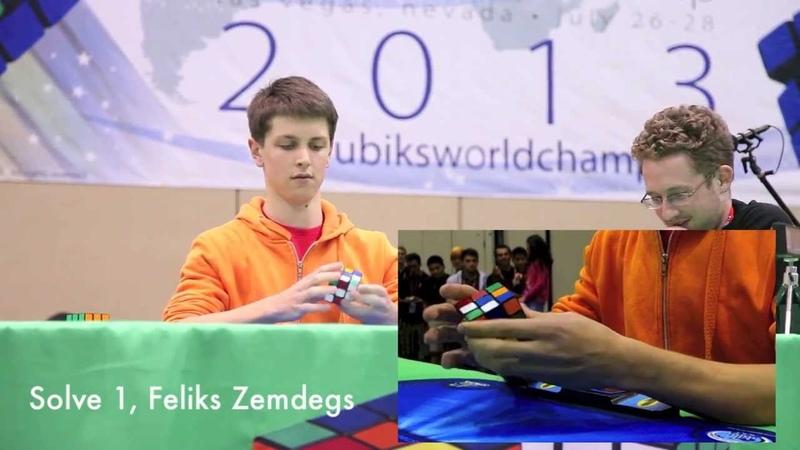 Mats Valk and Feliks Zemdegs Top 2 Seeds 3x3 Final Round Rubik's Cube World Championship 2013