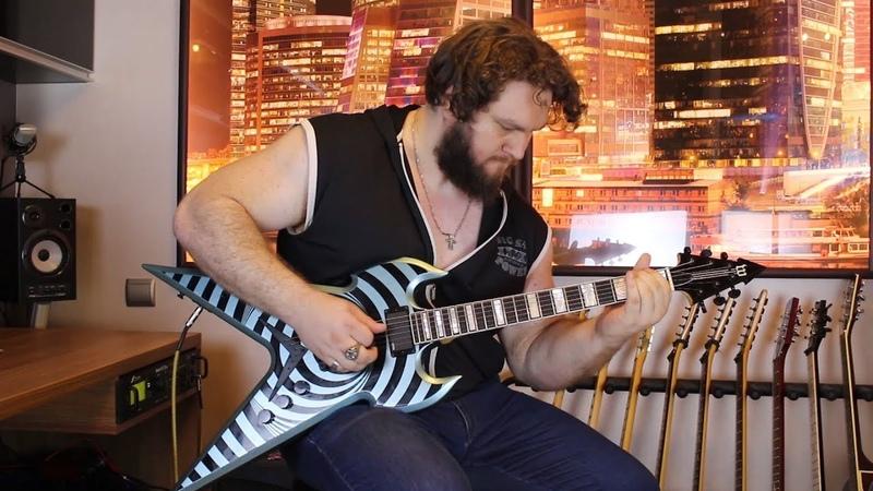 Ozzy Osbourne - Crazy Train (Zakk Wylde style guitar cover, Wylde Audio). Студент Кирилл Комаров