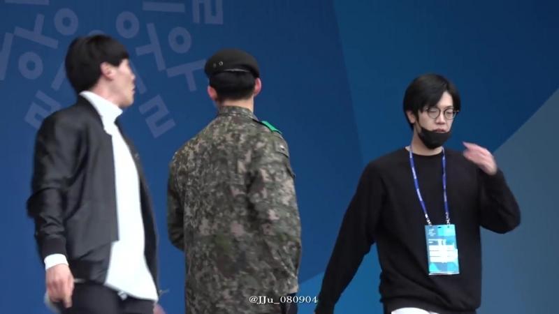 [Фанкам] 180219 2PM - HOT (Фокус на Тэкёна) @ 2018 PyeongChang Winter Olympic Headliner Show - Rehearsal