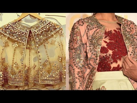 Embroidered designer jacket designs for lehenga,suit, saree/shrug ideas for Salwar suit/net shrug