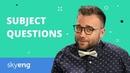 Subject Questions | Вопрос к подлежащему в английском языке | Skyeng