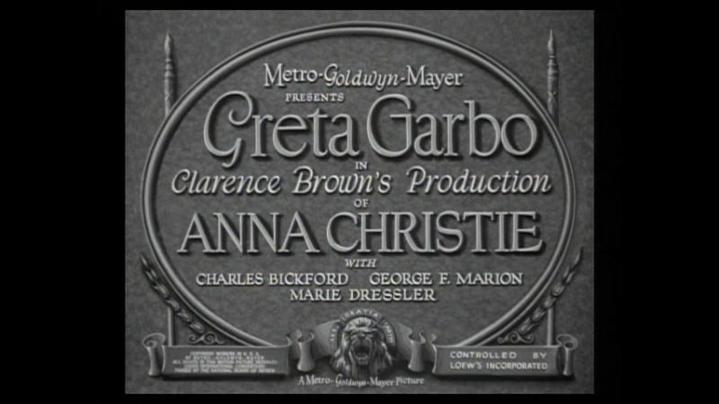 🎥 Анна Кристи / Anna Christie (1930)