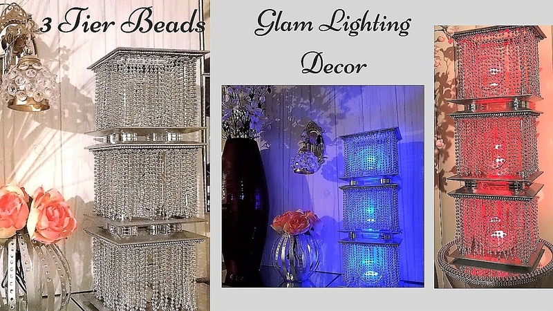 Diy 3 Tier Lighting Using Dollar Tree Items Simple and Inexpensive Home Accent Decor