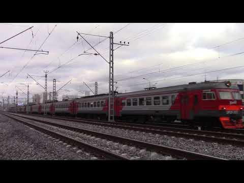 Электропоезд ЭР2Р-7075 перегон Москва-Пассажирская-Смоленская-Фили