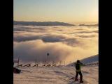 Катание на лыжах выше облаков в Сочи. Роза Хутор, 03.01.18