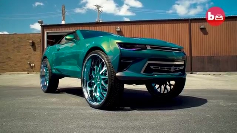 Custom Camaro With Insane 32-Inch Wheels RIDICULOUS RIDES