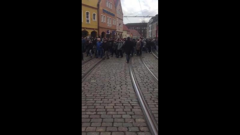 2018 02 15 Halberstadt Sachsen Anhalt Bürgerprotest gegen Merkel