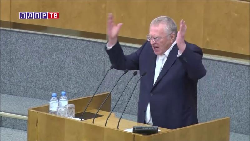 Жириновский гневно обличает власть ЕР в коррупции