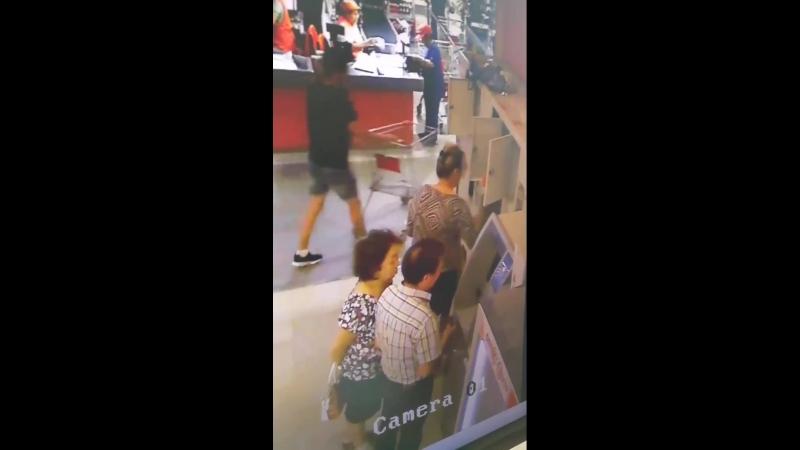 Кража из ячейки в супермаркете Айгуль. 13.07.18