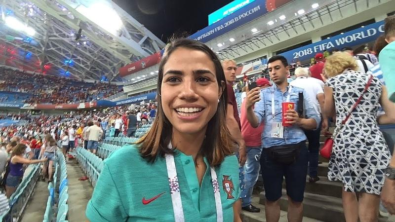 Хет-трик Роналду Португалия-Испания 15.06.2018 fans celebrate Ronaldo hat-trick Portugal-Spain WC