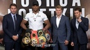 THE FULL ANTHONY JOSHUA VS ALEXANDER POVETKIN PRESS CONFERENCE FACE OFF VIDEO