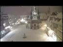 Live Schnee im März: HD Live Webcam Wernigerode - Marktplatz - Rathaus